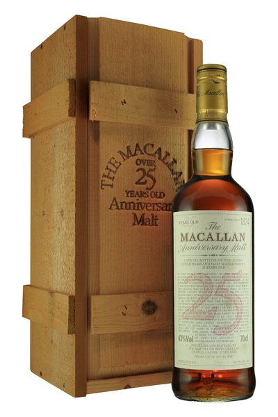 Macallan Anniversary Malt 25 Year Old Distilled 1974