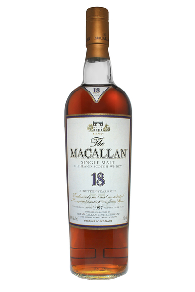 Macallan 18 Year Old Sherry Oak 1987