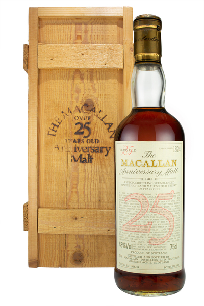 Macallan 25 Year Old Anniversary Malt 1958/59